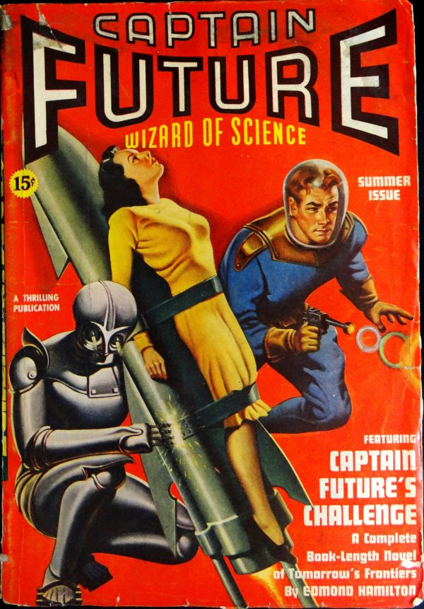 Captain Future Vol. 1, No. 3 (Summer 1940).  Cover by Earle Bergey
