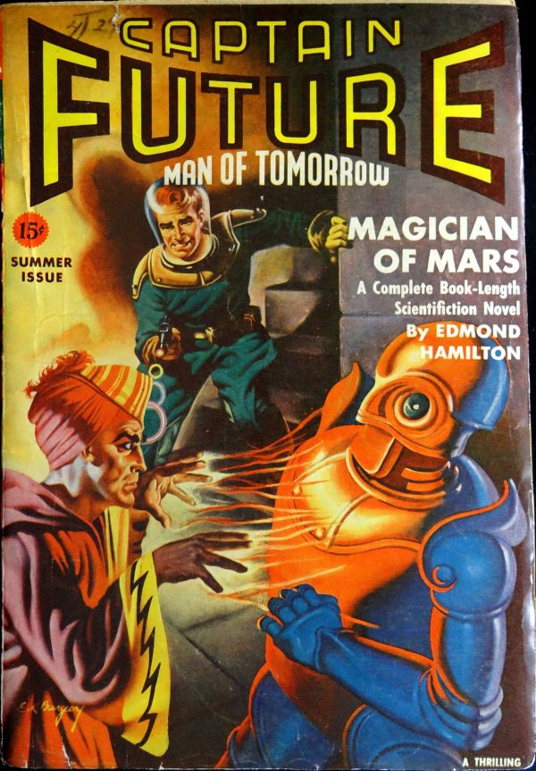 Captain Future Vol. 3, No. 1 (Summer 1941).  Cover by Earle Bergey