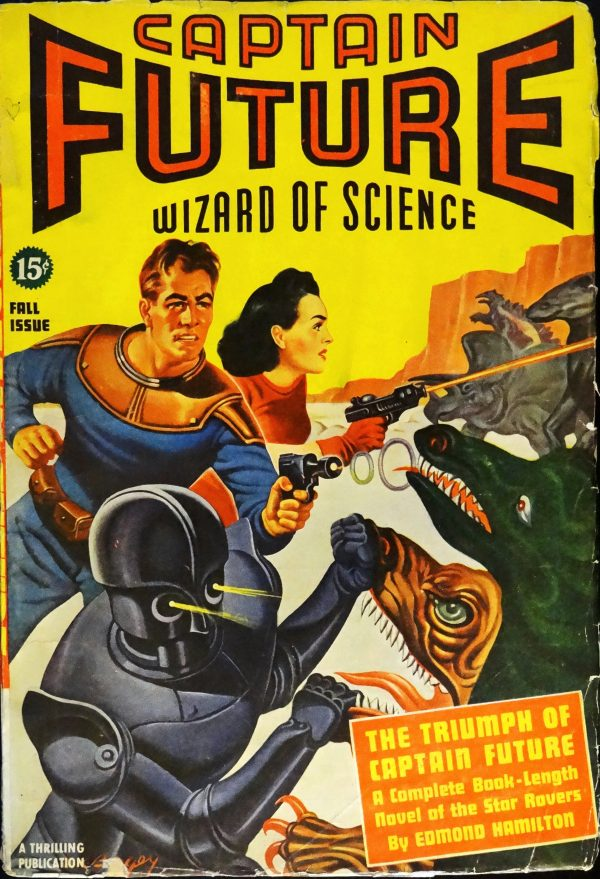 Captain Future Vol. 2, No. 1 (Fall, 1940). Cover Art by Earle Bergey