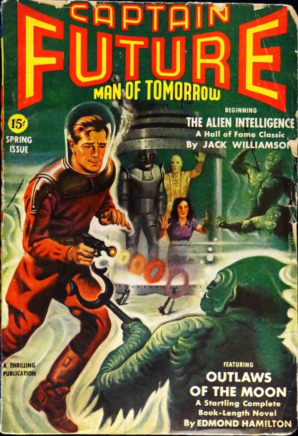 Captain Future Vol. 4, No. 1 (Spring, 1942). Cover Art by Earle Bergey