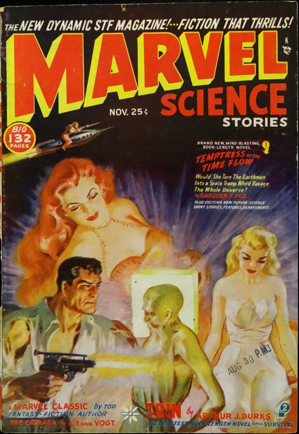 Marvel Science Stories Vol. 3, No. 1 (Nov., 1950). Cover Art by Norman Saunders