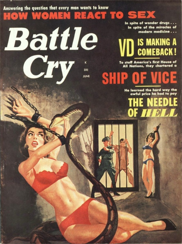 19576568-Battle Cry, June 1963, cover by Vic Prezio