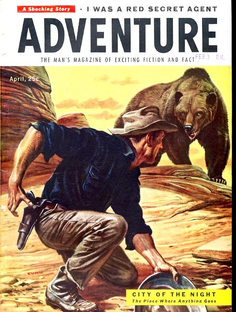 20683874-Adventure magazine - 1955 04 April - bear attack