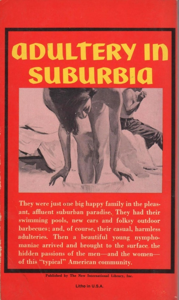 Adulltery in Suburbia, 1964 - illus Bernard Barton.BACK2