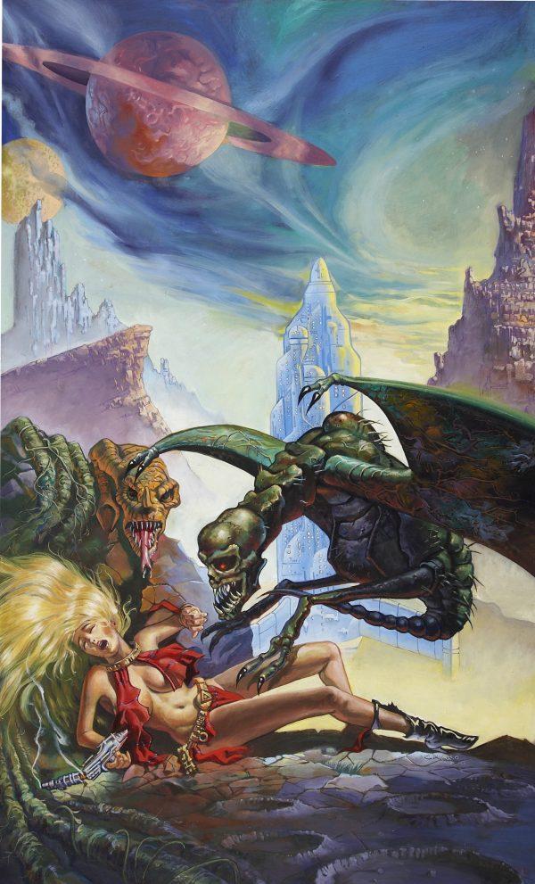 Galaxy of Terror, movie poster Illustration, 1981