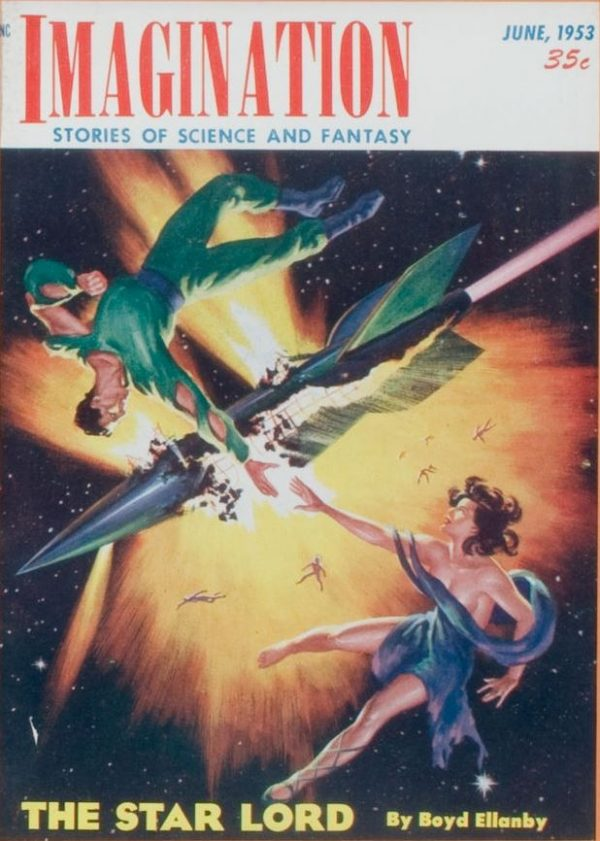 Imagination- Stories of Science and Fantasy, magazine cover, June 1953