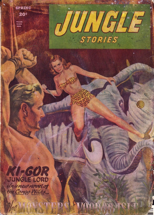 Jungle Stories Spring 1946 cover 001