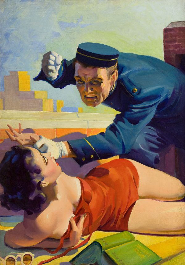 Romantic Detective, pulp cover, August 1938