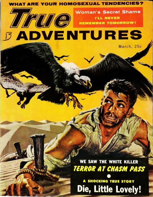 True Adventures (March, 1957). Cover Art by Martin Kay