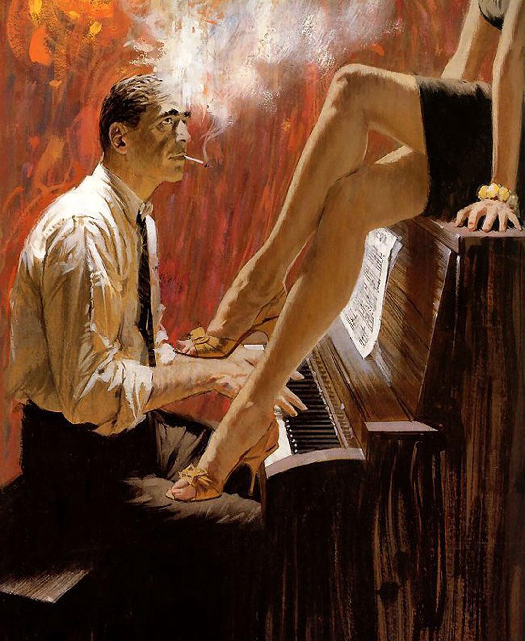 Секс на пианино мужчина послушал 20 фотография