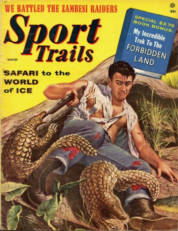 21224331-Sport Trails magazine, Winter 1956-57, cover by Mort Kunstler
