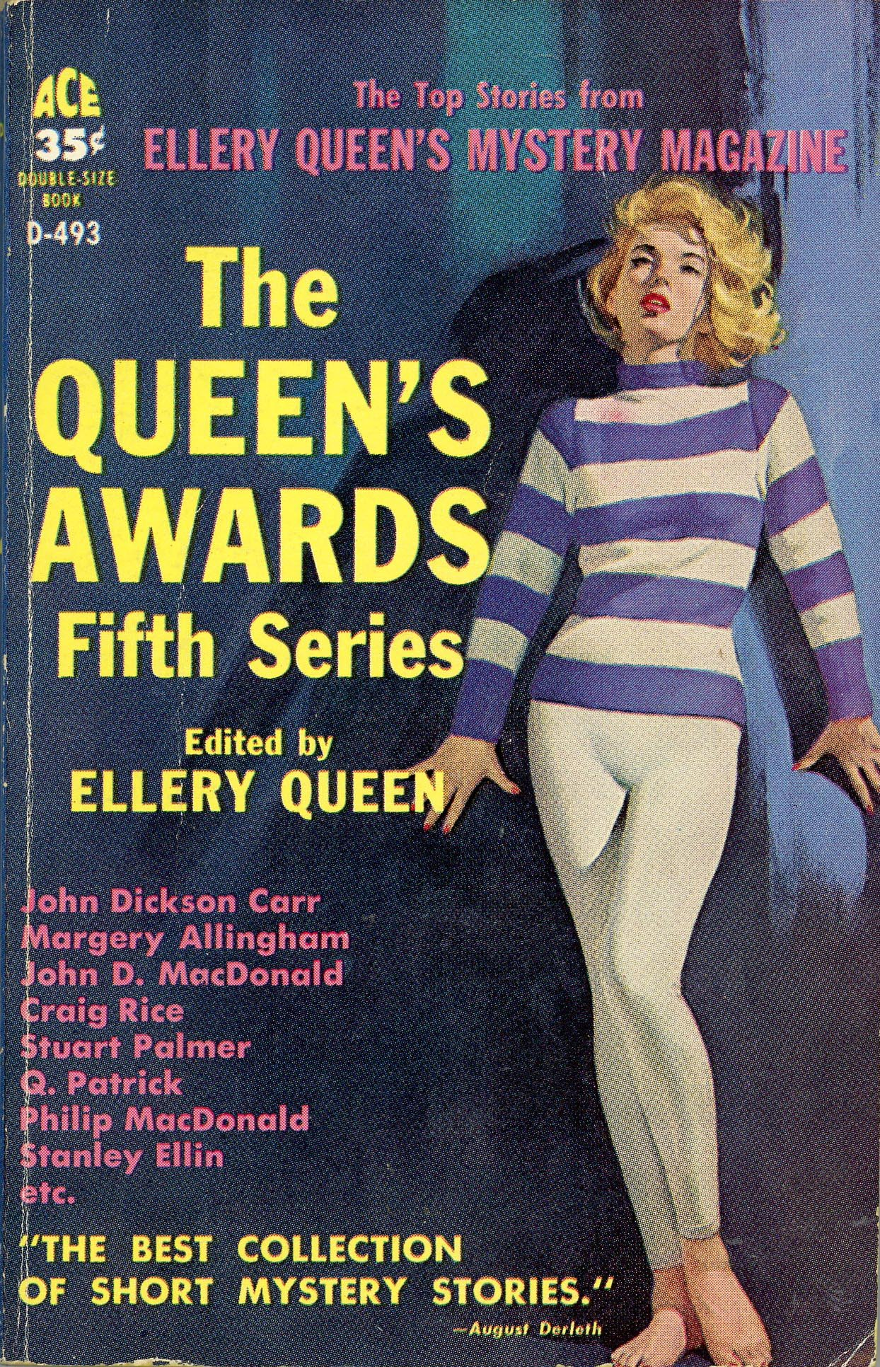 Image result for ellery queen's mystery magazine pulp covers""