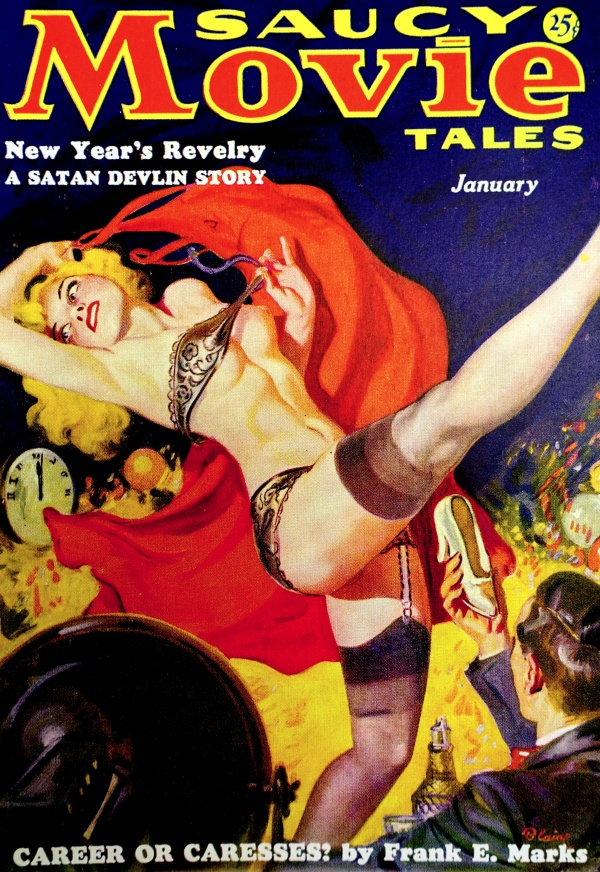 Saucy Movie Tales Vol. 3, No. 3  (Jan., 1937). Cover Art by Norman Saunders