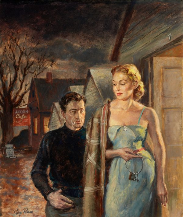 24381669-Where_Town_Begins,_paperback_cover,_1952._Oil_on_board._18.5_x_15.75_in