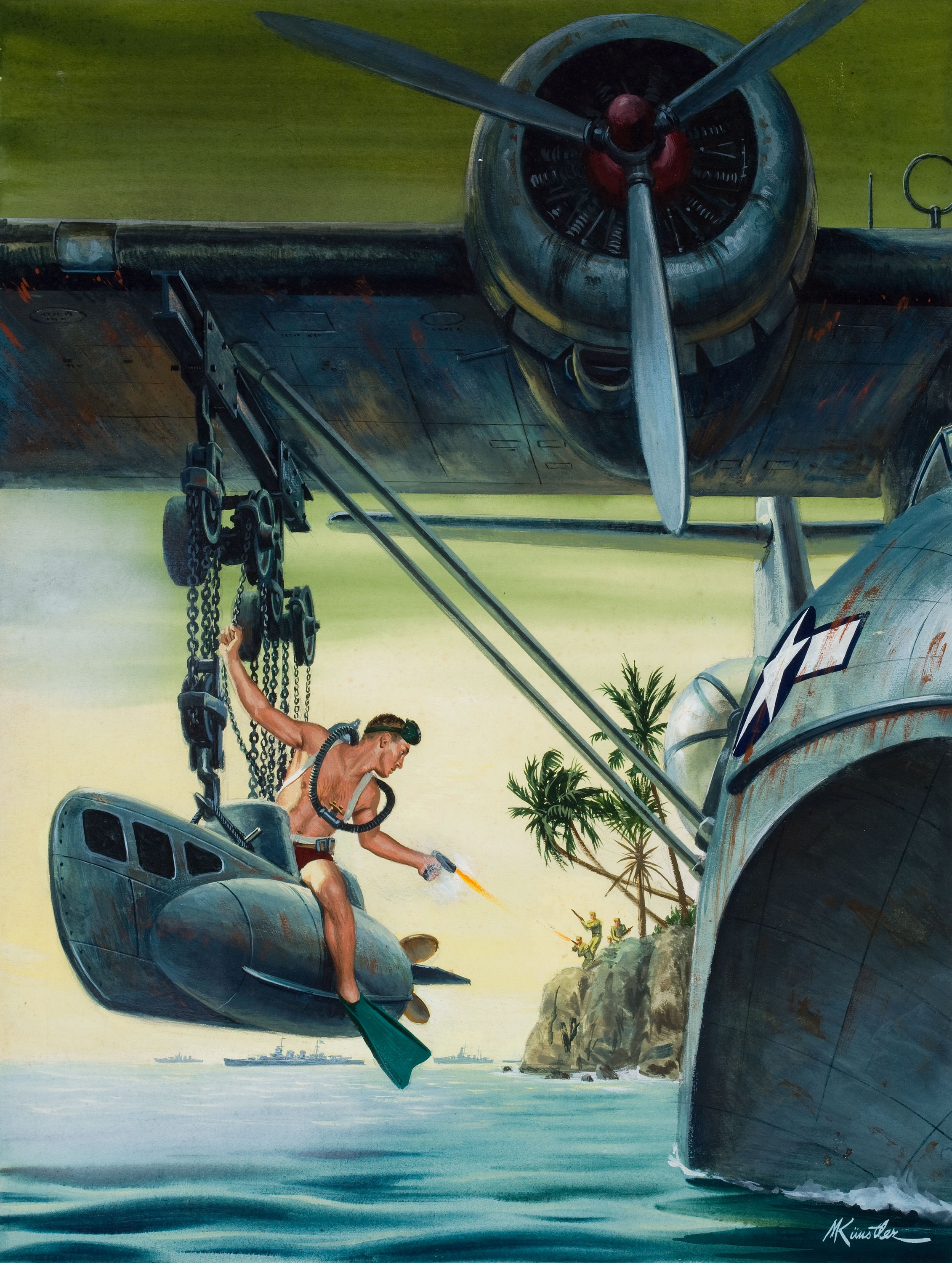 25232365-The_Hell-Raising_Yank_and_His_Remarkable_Flying_Sub,_Male_cover_illustration