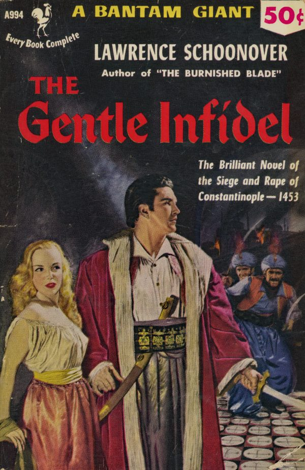 5284193391-bantam-books-a994-lawrence-schoonover-the-gentle-infidel