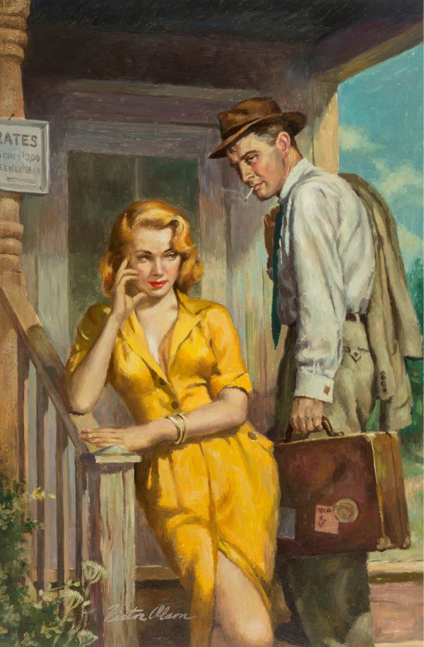 Georgia Hotel The Affairs of a Traveling Salesman, paperback cover, 1952