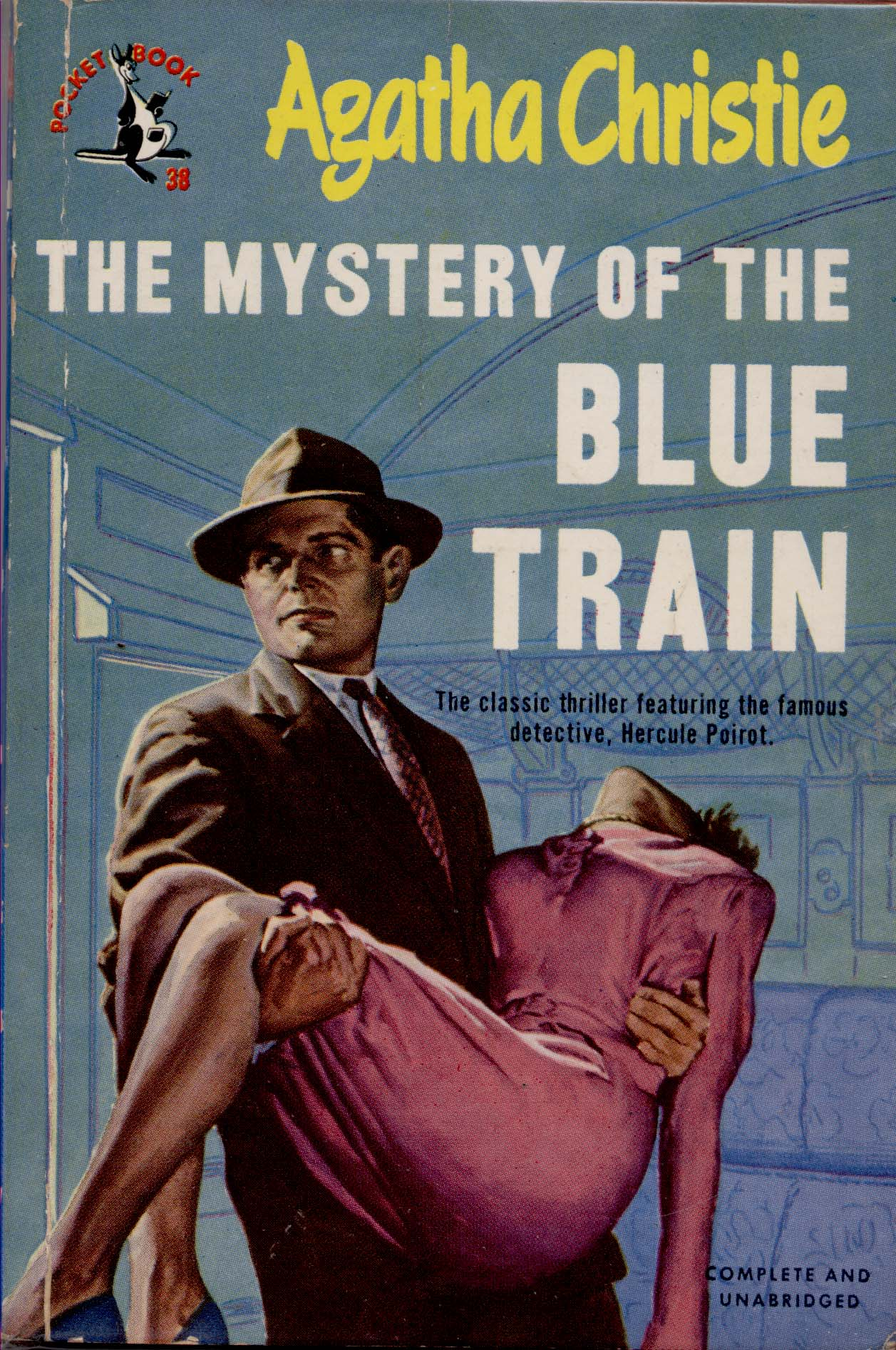 Image result for the mystery of the blue train pulp cover