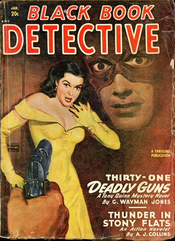 BLACK BOOK DETECTIVE. January 1949