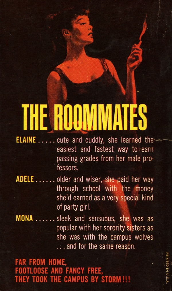 Midwood Books F343 - Joan Ellis - Girls Dormitory (back)