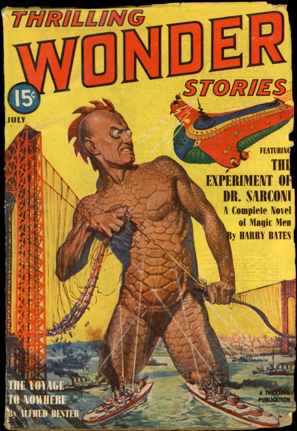 THRILLING WONDER STORIES. July 1940