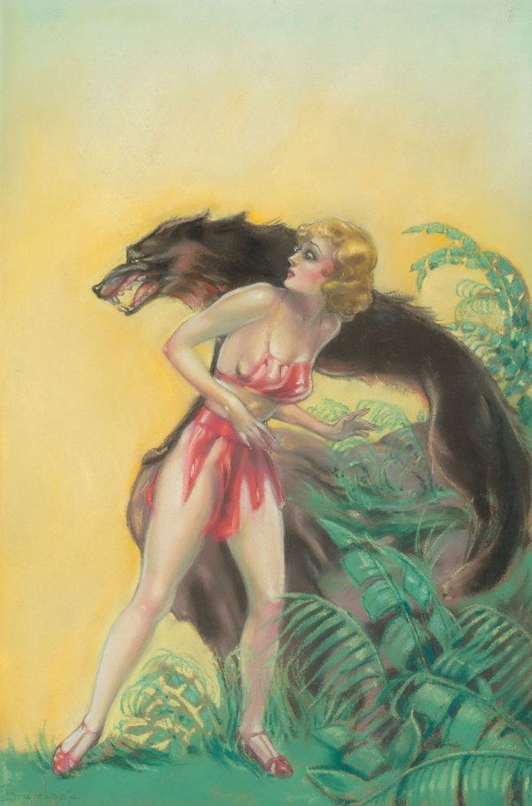 The Six Sleepers, Weird Tales pulp cover, October 1935
