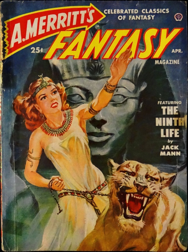 A. Merritt's Fantasy Mag. Vol. 1, No. 3 (April, 1950). Cover Art by Norman Saunders