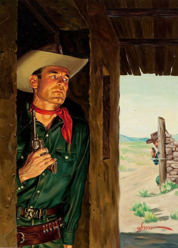 32354866-GEORGE_GROSS_Duel_on_the_Range,_paperback_cover