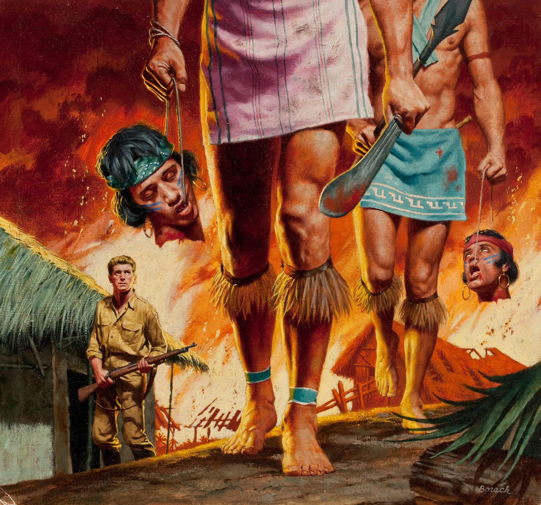 32378280-STANLEY_BORACK_Jivaro_Headhunters,_Male_magazine_cover,_May_1956