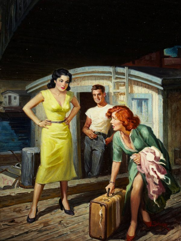 River Boat Girl, paperback digest cover, 1952