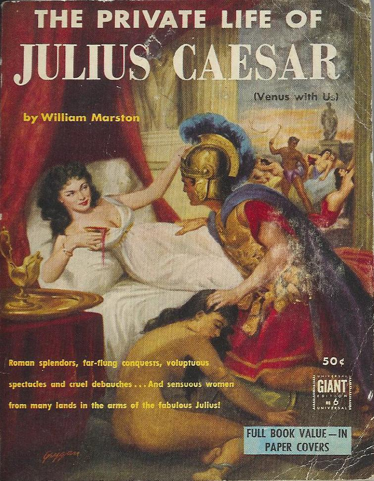 the private life of julius caesar pulp covers. Black Bedroom Furniture Sets. Home Design Ideas