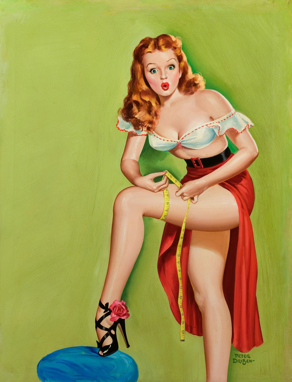 35043279-Peter_Driben_-_Thigh_Measurement,_Wink_magazine_cover,_December_1949