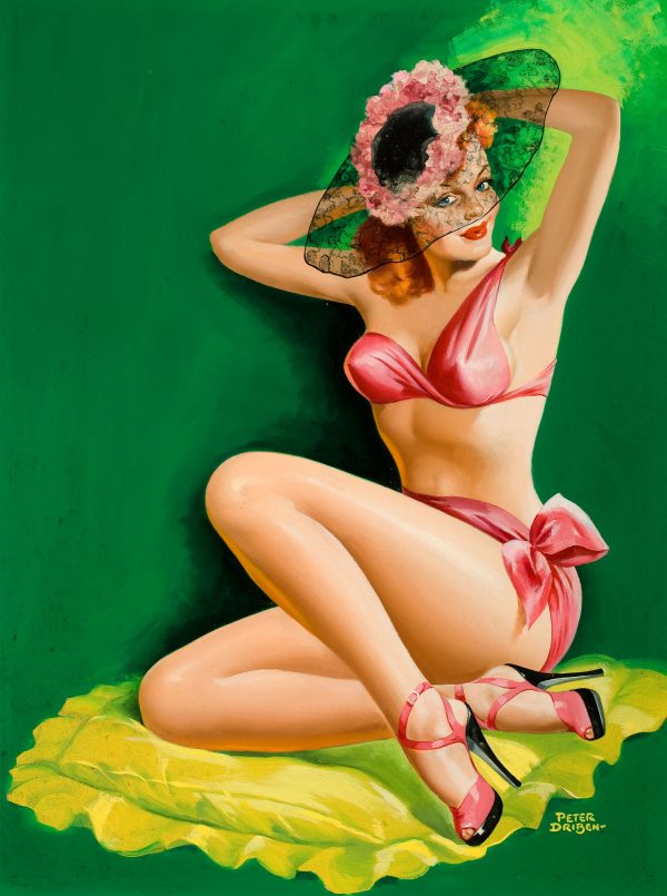 35044821-Pin-Up_with_Hat,_Flirt_magazine_cover,_August_1949