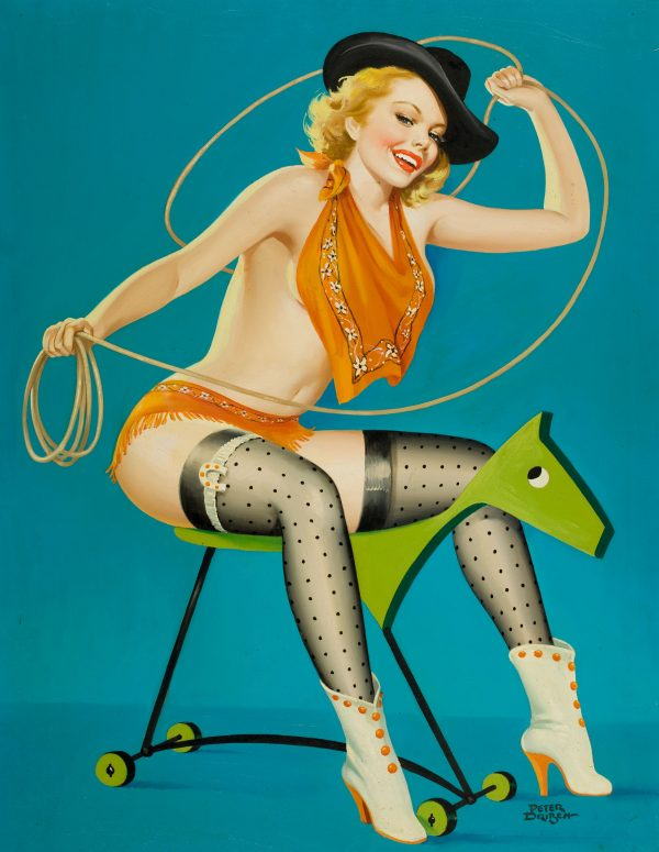 35045060-Roping_the_Horse,_Flirt_magazine_cover,_October_1952