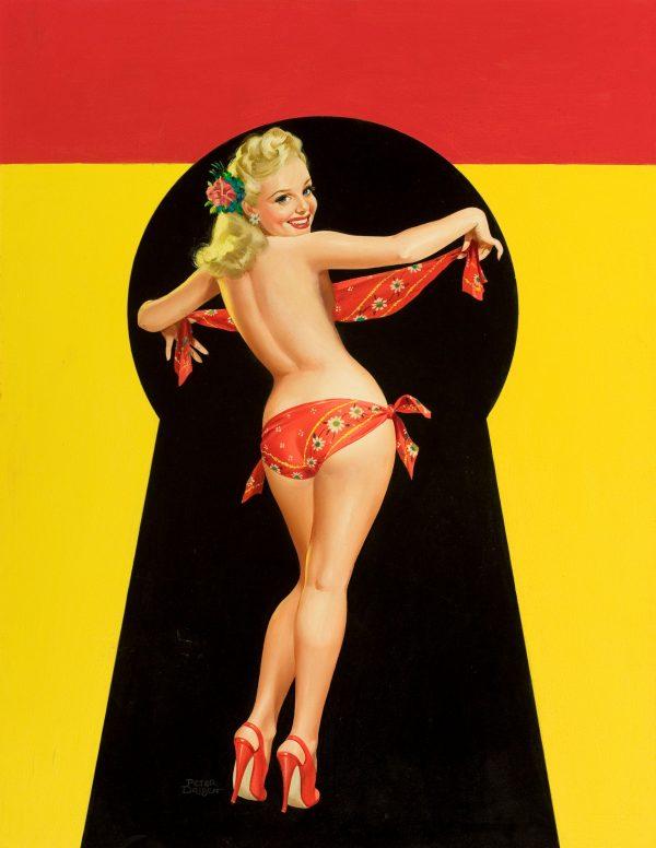 35045198-Keyhole_Pin-Up_with_Bandana,_Whisper_magazine_cover,_January_1951
