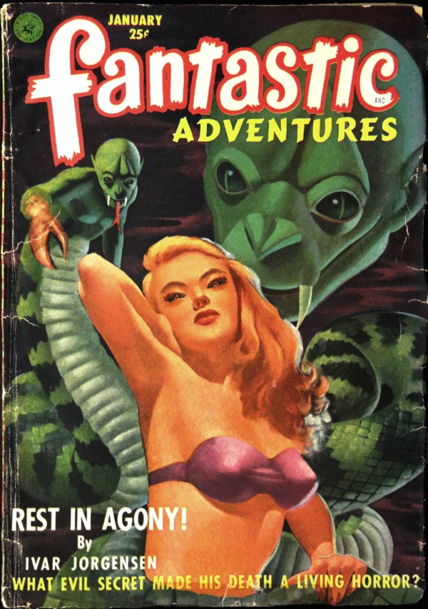Fantastic Adventures Vol. 14, No. 1 (January, 1952). Cover Art by Ed Valigursky