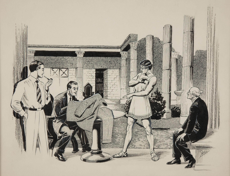 35852139-Famous_Fantastic_Mysteries_August_1942_A_Roman_Resurrection_Science_Fiction_Illustration_Original_Art