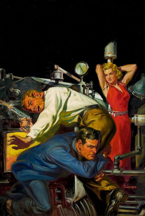 36900590-Norman_Saunders_-_Shootout_at_the_Steam_Pipes,_pulp_cover,_c._1935