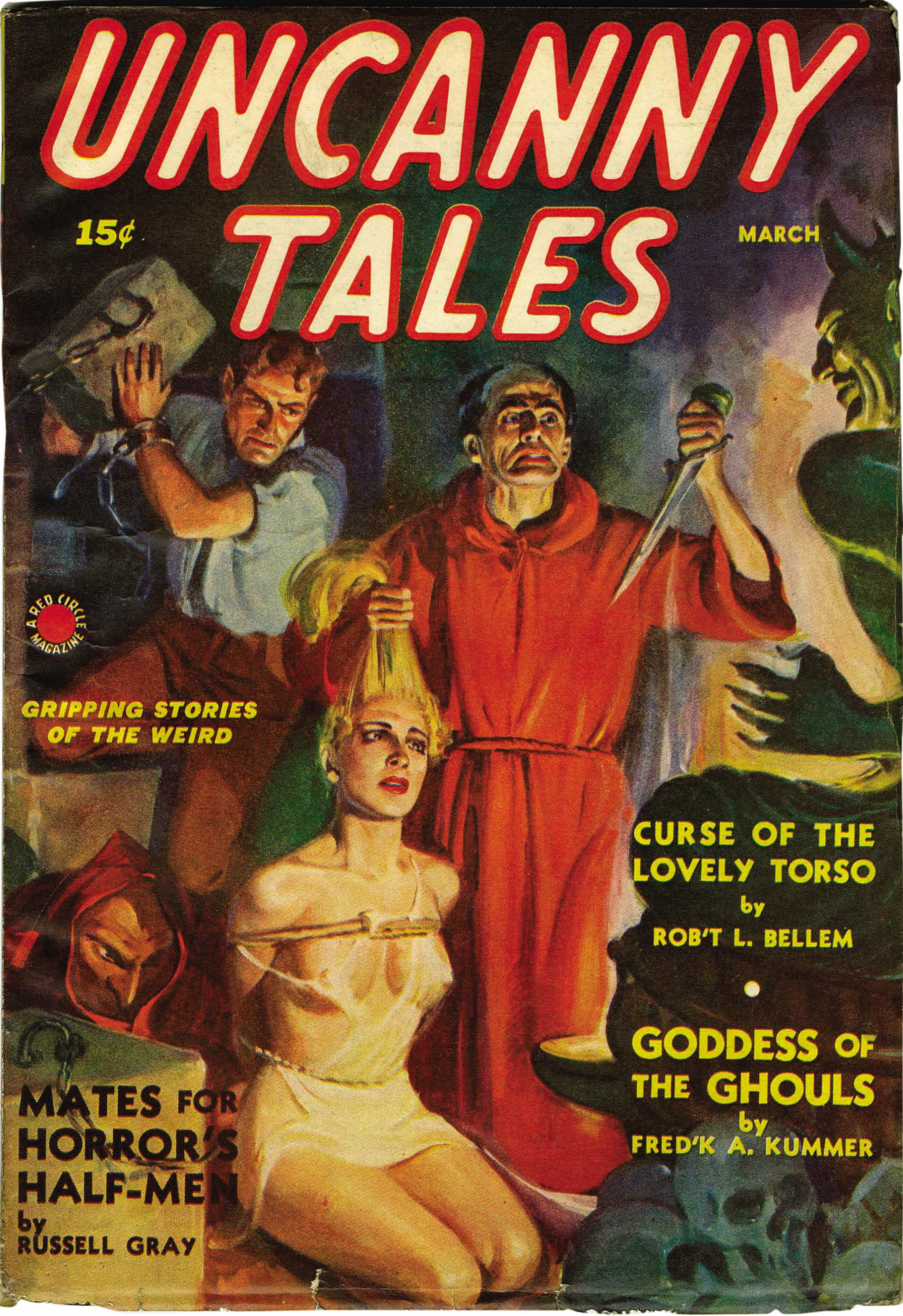 Mates For Horror's Half-Men. 36990031-lf thumbnail. Uncanny Tales 1940  March thumbnail