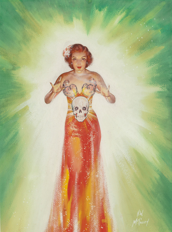 Priestess of the Floating Skull, Amazing Stories pulp cover, May 1943