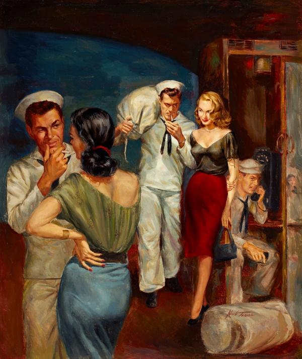 Sailor's Weekend, paperback digest cover, 1952