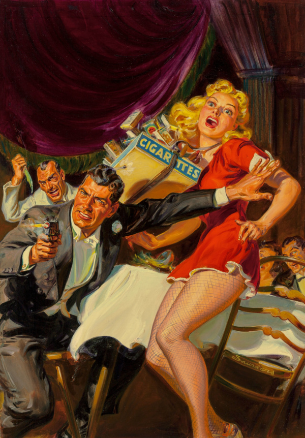 10 Story Detective pulp magazine cover, May 1942