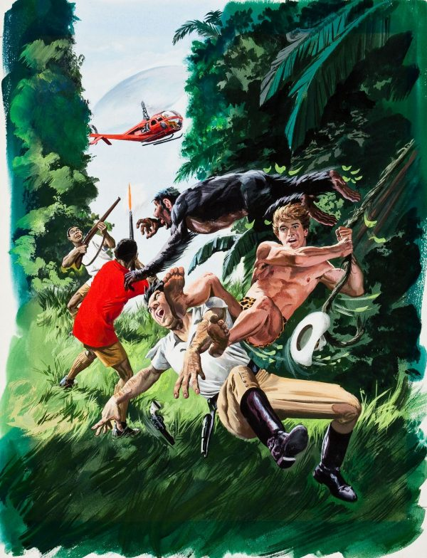 38481127-Korak,_Son_of_Tarzan_#43_Painted_Cover_Original_Art