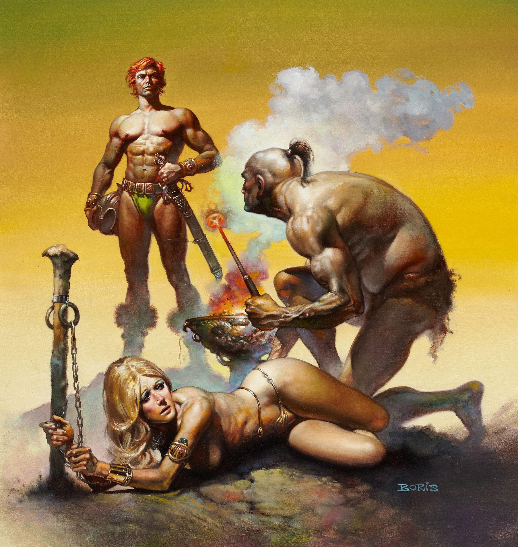 Fantasy slave town naked women