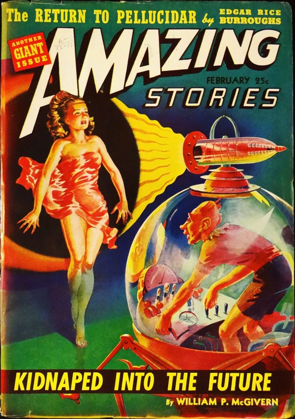 Amazing Vol. 16, No. 2 (Feb., 1942).  Cover Art by L. Raymond Jones