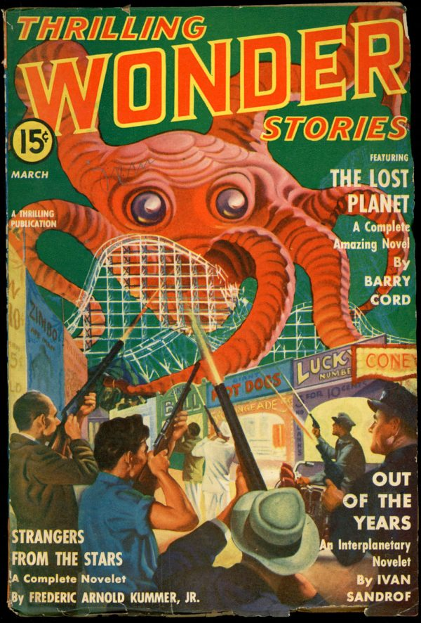 THRILLING WONDER STORIES. March 1941