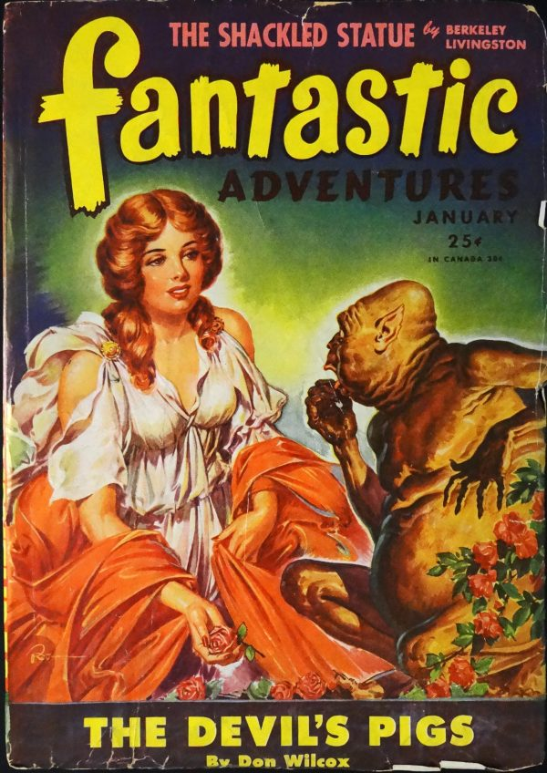 Fantastic Adventures Vol. 7, No. 1 (Jan., 1945). Cover Art by Robert Gibson Jones
