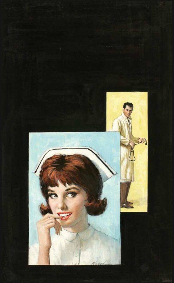 42384604-Rudy_Nappi_-_Original_Paperback_Cover_Art_(c.1960)_MacFadden_#35-125_-_Nurse_Hilary_by_Peggy_Gaddis