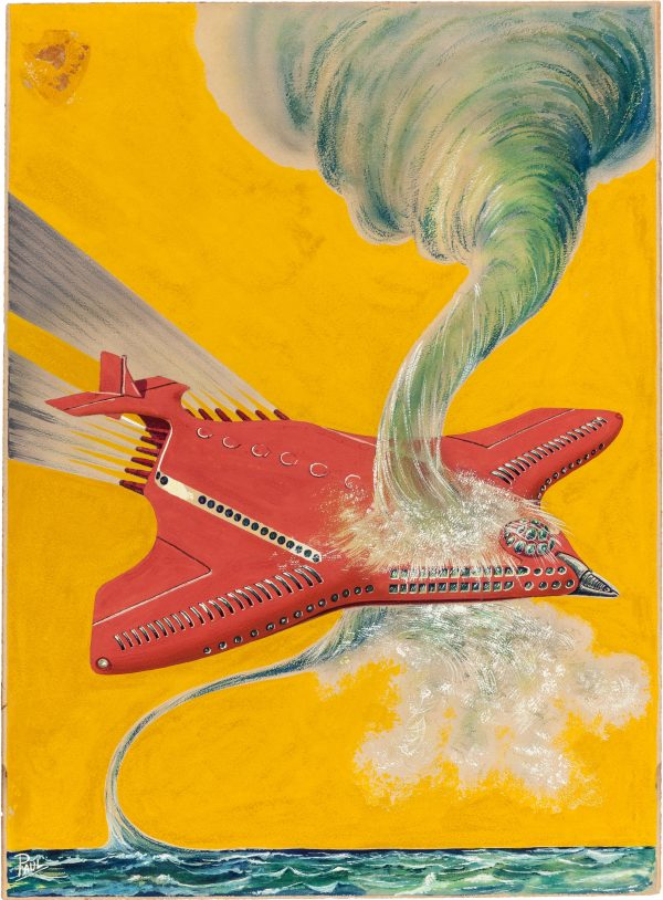 Flight of the Eastern Star, Air Wonder Stories pulp magazine cover, December 1929