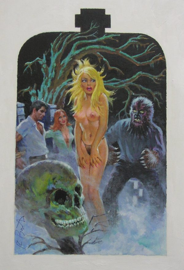 Original art for the cover of Orgy of the Dead